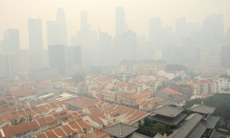 singapore polution